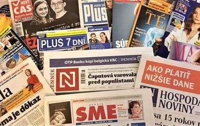 Nový Čas, Plus 7 dní a Záhradkár dominují slovenskému printu