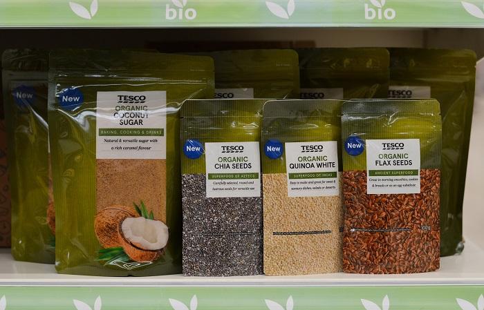 I Tesco rozšířilo sortiment bio produktů vlastní značky. Zdroj: Tesco ČR
