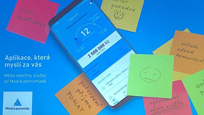 Modrá pyramidy od druhé poloviny října spustí kampaň na svou mobilní aplikaci, zdroj: MP.