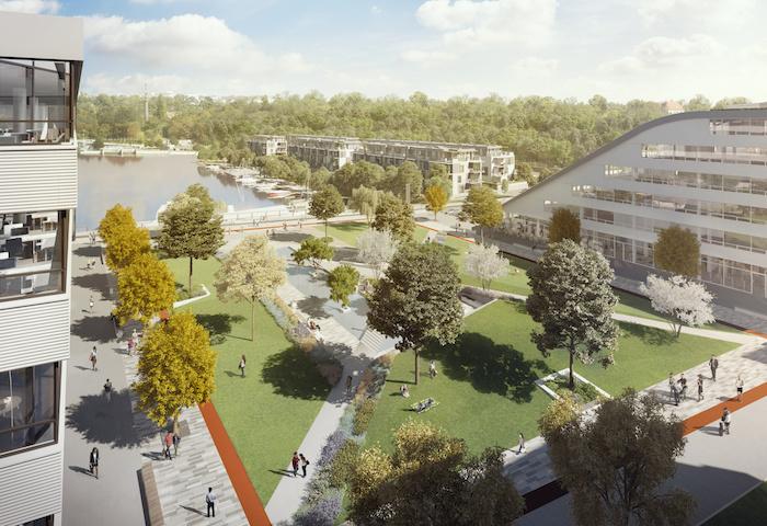 Dock se nachází v blízkosti dvou slepých ramen Vltavy, zdroj: Publicis Groupe.