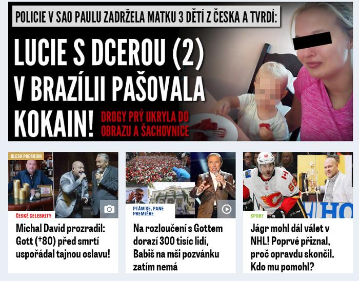 Článek označený jako Premium na Blesk.cz, repro: Blesk.cz