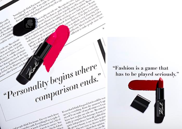 Novou řadu podpoří kampaň s citáty Karla Lagerfelda, zdroj: L'Oréal.