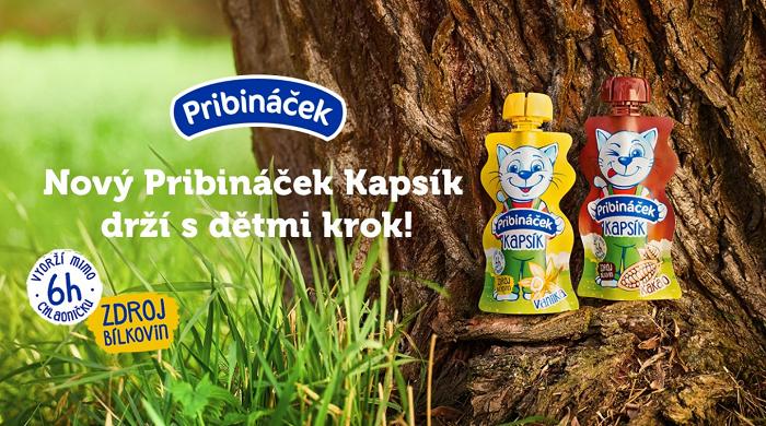 Novinka Pribináček Kapsík jde na trh ve dvou příchutích, zdroj: FB Pribináček.