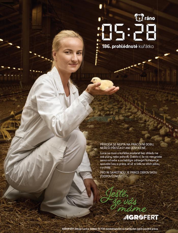 Jeden z vizuálů aktuální kampaně Agrofertu, zdroj: Agrofert