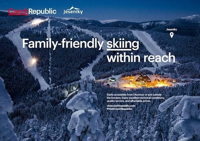 Jednou z propagovaných destinací zimní mikrokampaně je horské středisko v Jeseníkách, zdroj: CzechTourism.