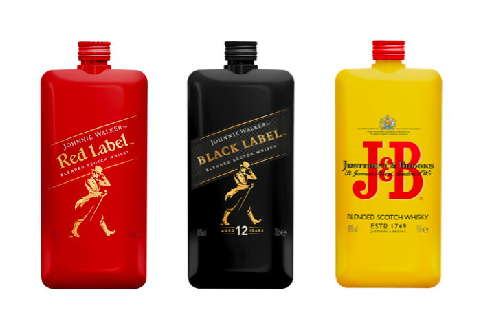 Pocketka neboli balení o 0,2 l uvádí na český trh whisky Johnnie Walker a J&B, zdroj: Stock Plzeň-Božkov.