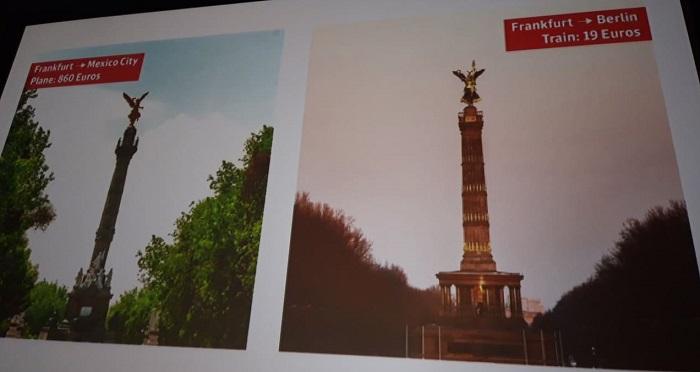 Deutsche Bahn nabízela cenové srovnání zahraničního výletu a vizuálně podobného místa v Německu, foto: MediaGuru.