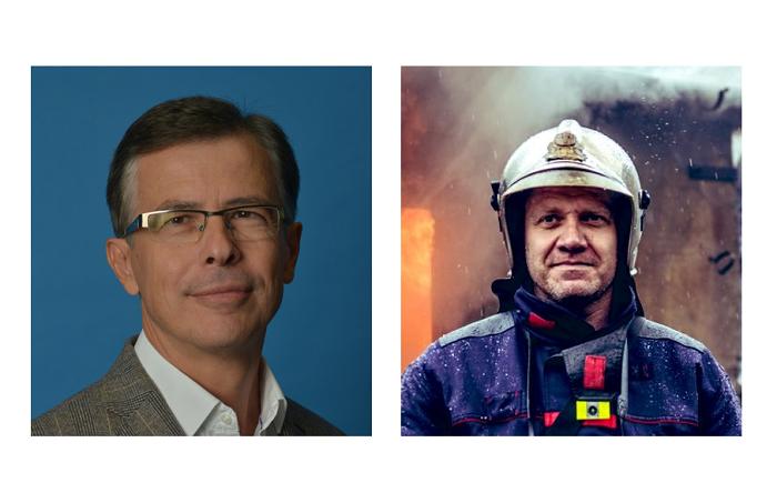 Tiskovými mluvčími roku se stali Václav Bálek (Allianz) a Martin Kavka (Hasiči Praha), zdroj: Allianz & Twitter.