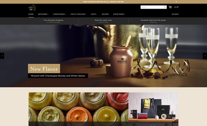 Svůj e-shop zprovoznila i značka hořčice Maille, zdroj: Maille.