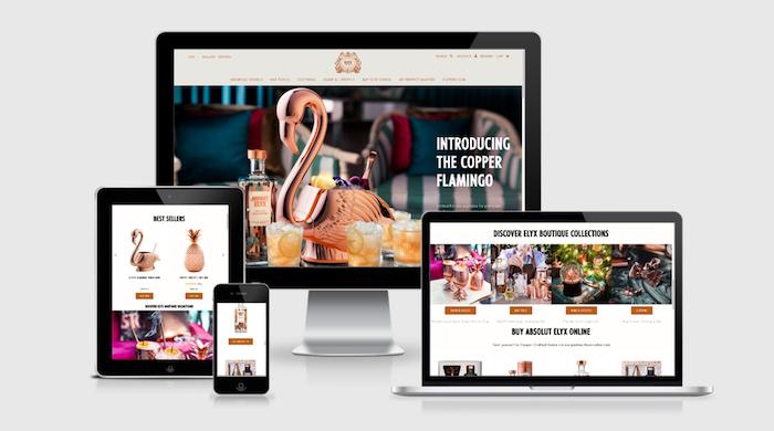 Elyx Boutique prodává barmanské i řadu Absolut Elyx vodky, zdroj: Elyx Boutique.