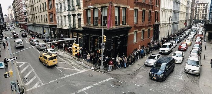 Otevření pop-upu značky Gymshark v New Yorku, zdroj: FB Gymshark