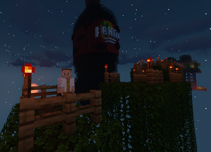Fanta na Halloweena otevřela ve hře Minecraft svůj lunapark, zdroj: Coca-Cola.