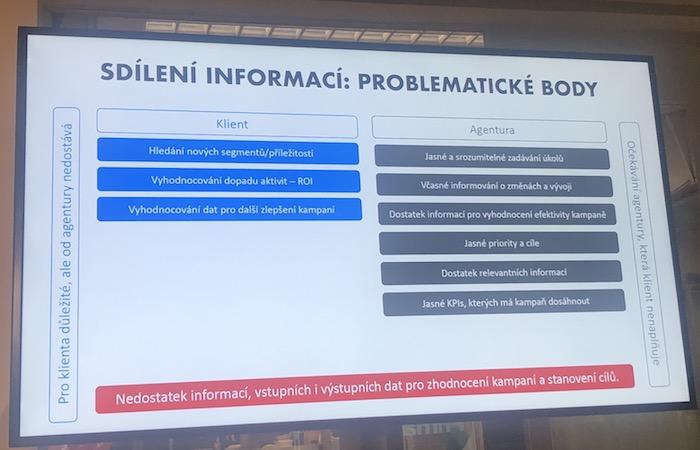 Co chybí klientům a agenturám v oblasti sdílení informací, zdroj: AKA.