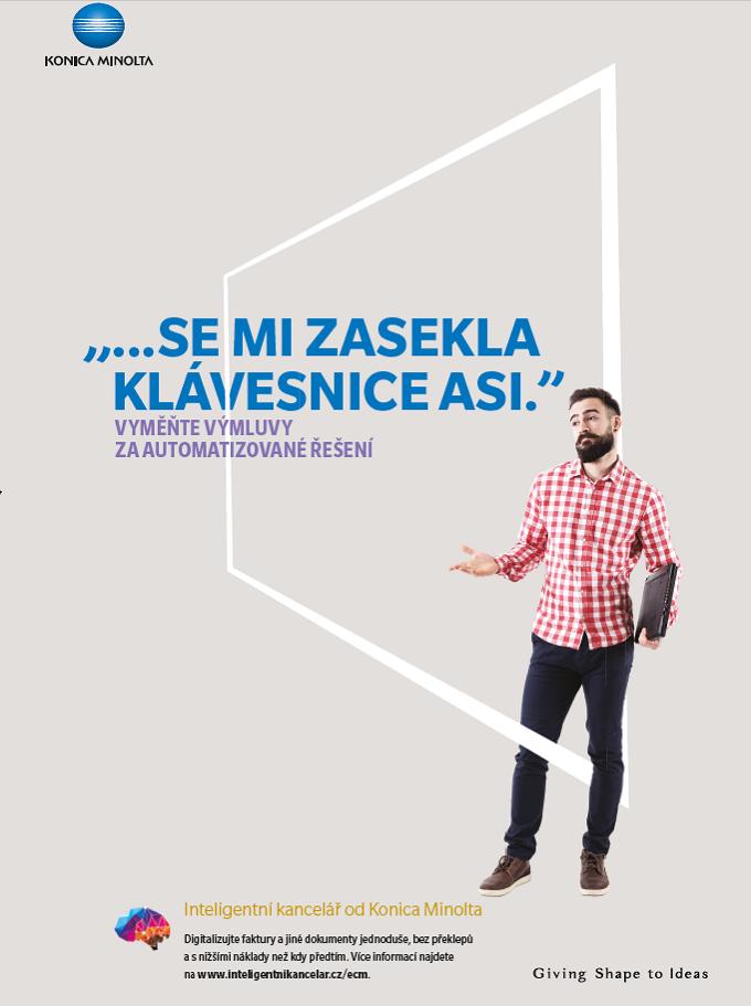 Jeden z klíčových vizuálů nové kampaně společnosti Konica Minolta, zdroj: Konica Minolta