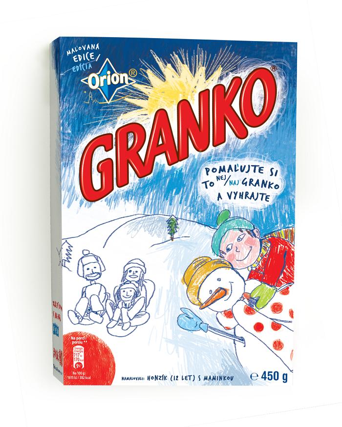 V roce 2016 se na obalech Granka objevily výtvory dětí, zdroj: Nestlé.