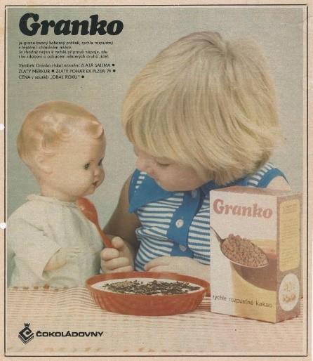 Součástí kampaně byla i tisková inzerce, zdroj: Nestlé.
