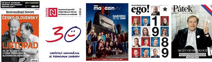Vydání aktuálních magazínových příloh nebo pátečních titulních stran (15. 11. 2019)