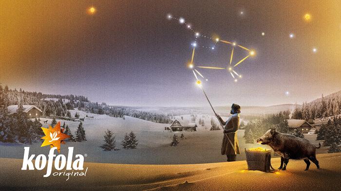 Ve vánoční kampani vytváří Kofola na obloze souhvězdí Prasátka, zdroj: Kofola ČS.