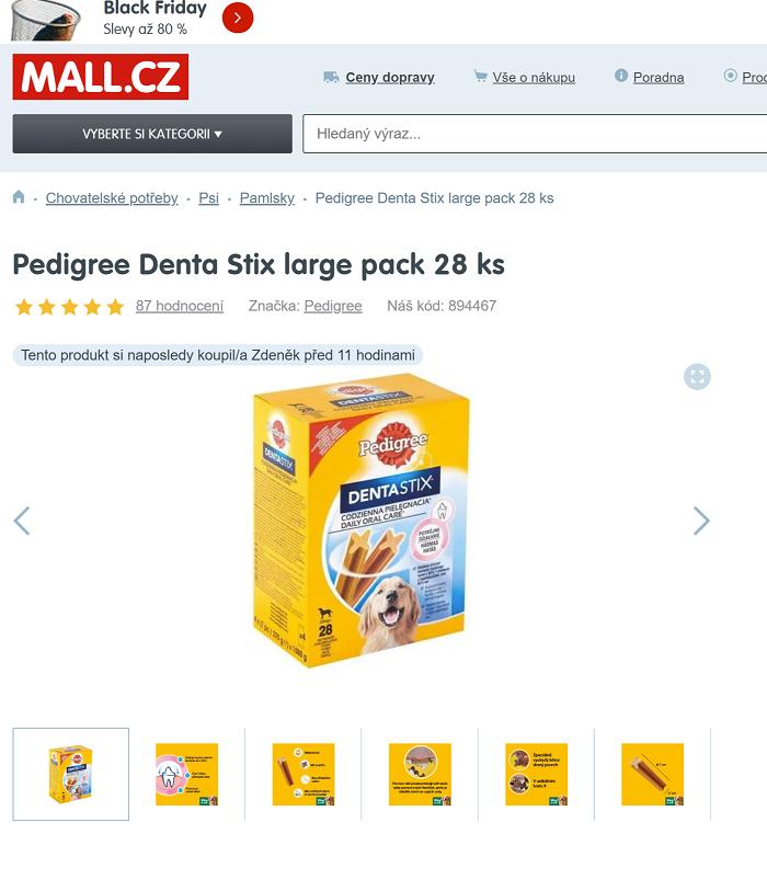 Mall.cz své notifikace dokonce i personalizuje, zdroj: Mall.cz.