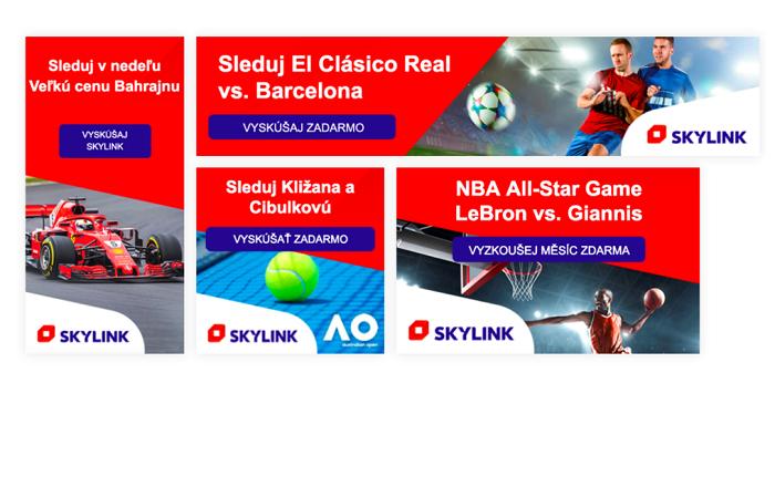 Formáty Dynamic Ads využité společností Skylink