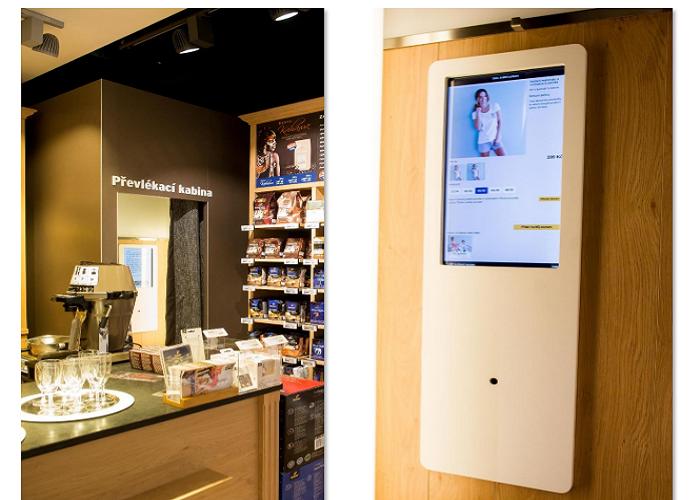 O digitální schopnosti chytré kabinky také české zákaznice nejevily dostatečný zájem, zdroj: Tchibo
