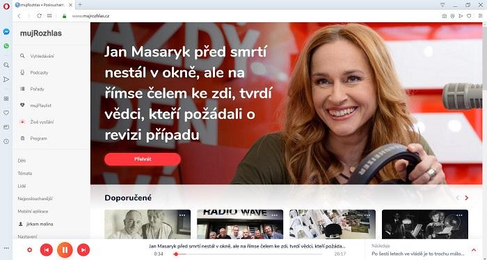 Český rozhlas spustil 4.12. 2019 aplikaci Můj rozhlas.cz, zdroj: Český rozhlas