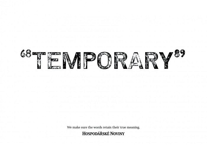 Lumír Kajnar: Temporary pro Hospodářské noviny (Economia), zdroj: ADC*E
