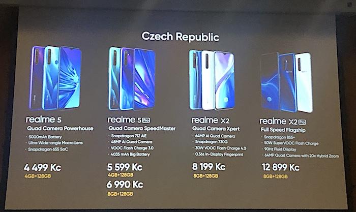 Ceny Realme na českém trhu, foto: MediaGuru.cz