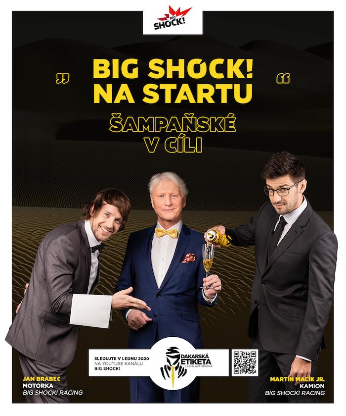 Klíčový vizuál k dakarské kampani energetického nápoje Big Shock!, zdroj: Socialsharks