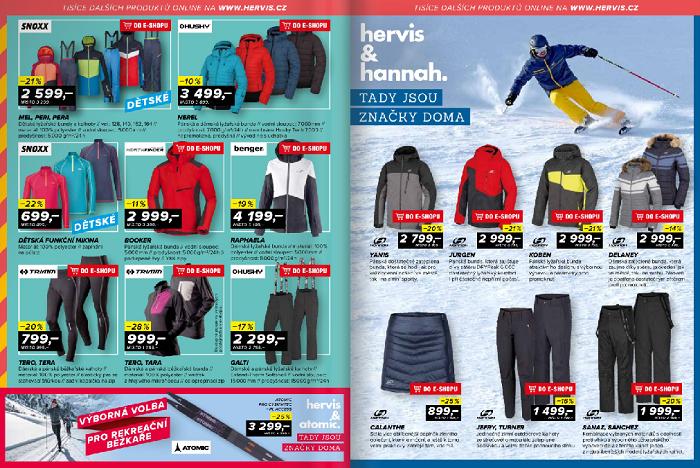 Hervis propaguje čím dál více značkové výrobky a v kampaních je uvádí i stejným fontem, zdroj: Hervis web