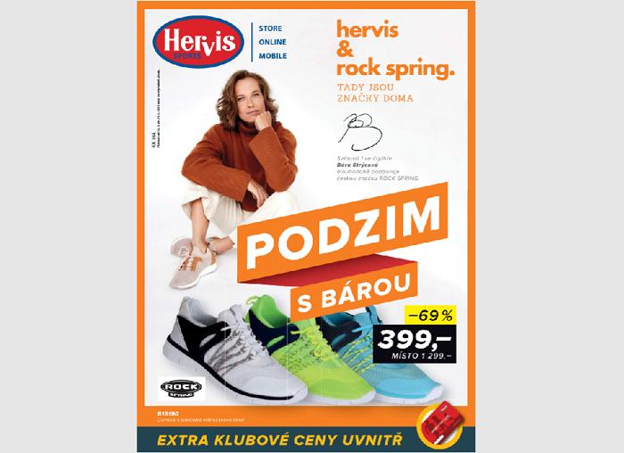 Spolupráce s českou firmou Rock Spring a tenistkou Barborou Strýcovou, ze značky se stala pátá nejprodávanější v daném období, zdroj: Hervis