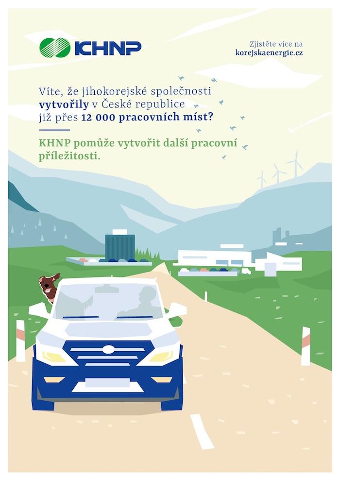 Jeden z klíčových vizuálů kampaně KHNP, zdroj: KHNP