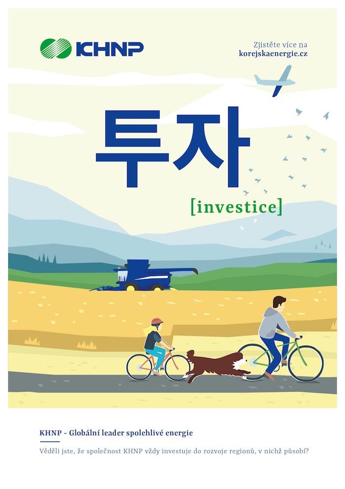 Na některých vizuálech využívá kampaň i jihokorejské typografie, zdroj: KHNP.