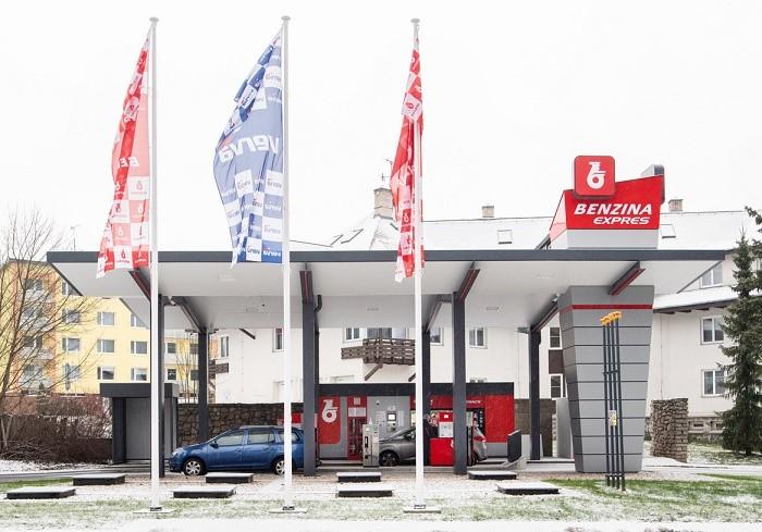 Benzina Express, samoobslužná čerpací stanice, zdroj: Benzina