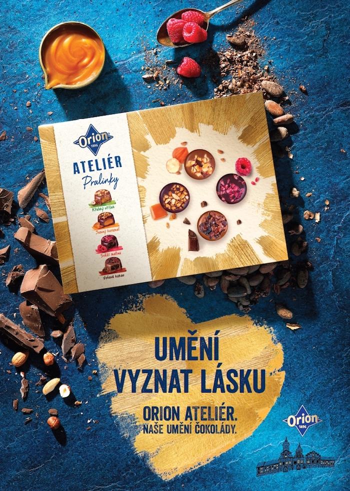 Klíčový vizuál k valentýnské kampani značky Orion Ateliér, zdroj: Nestlé