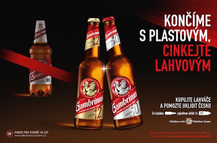 Klíčový vizuál k aktuální kampani značky Gambrinus, zdroj: Plzeňský Prazdroj