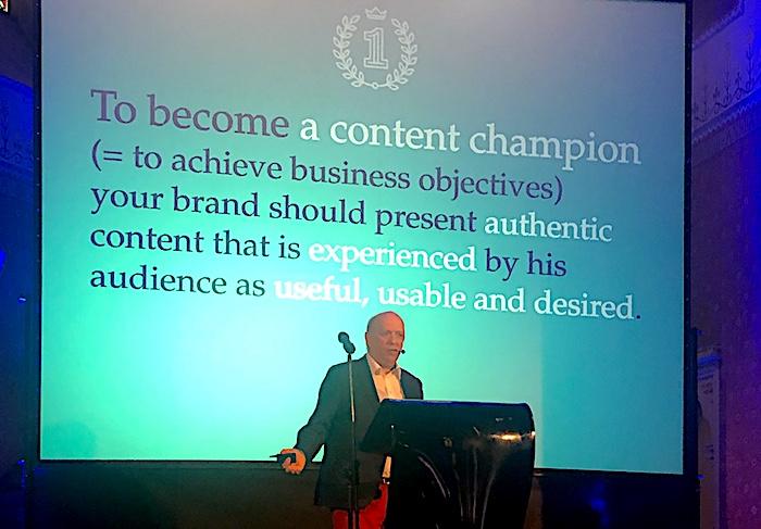 Pieter Vereertbrugghen na letošní Konferenci Content marketing, foto: MediaGuru.cz