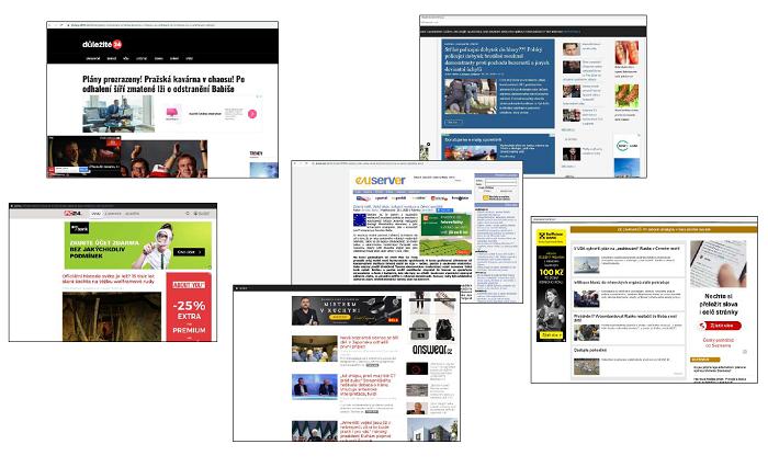 Reklama na dezinformačních webech, zdroj: Nelež