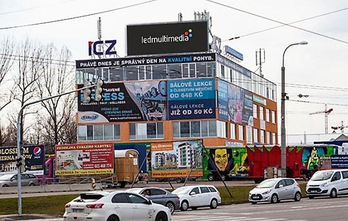 Obrazovka v Českých Budějovicích, zdroj: LED Multimedia