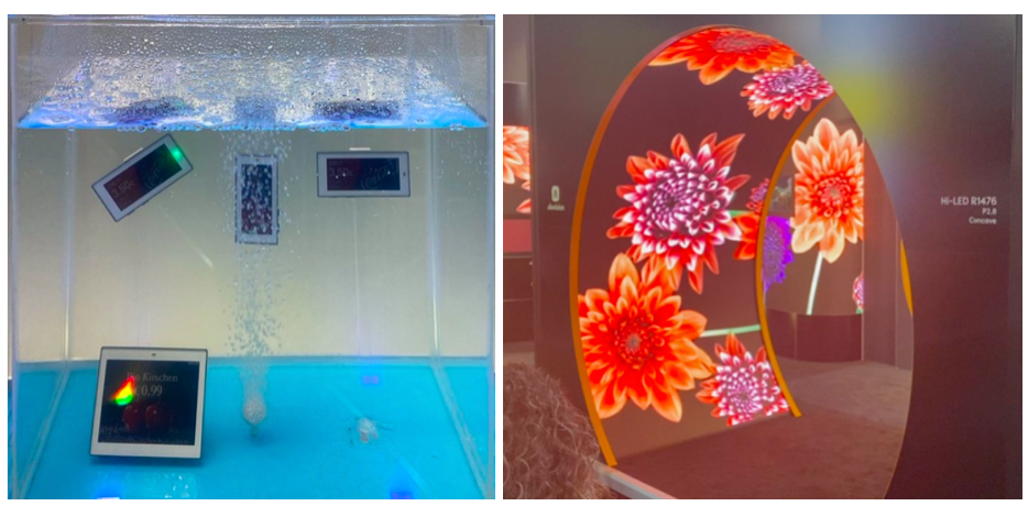 LED technologie lze využít ve vodě i je tvarovat do různých kompozic, foto: Daniel Jesenský.