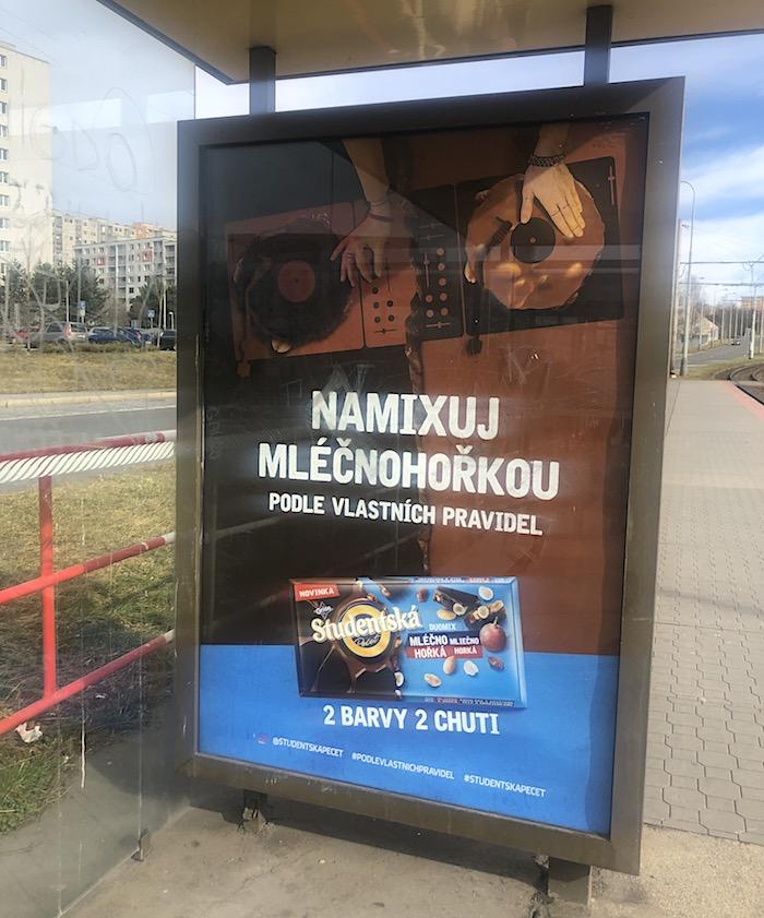 Mléčnohořkou novinku komunikuje Studentská pečeť prostřednictvím televize a CLV , foto: MediaGuru.cz.