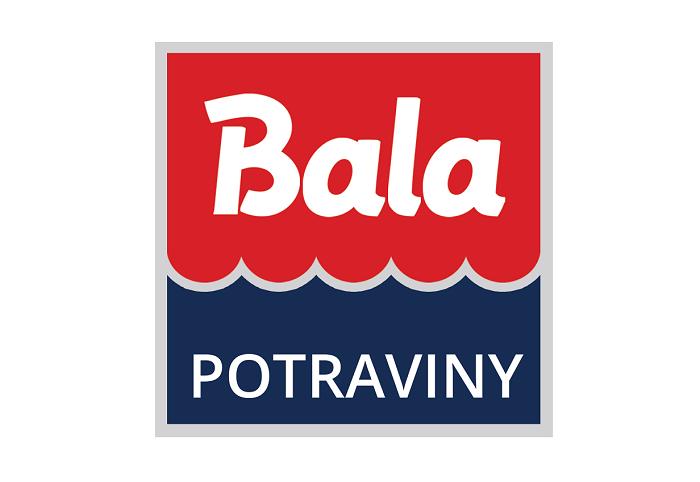 """Franšízanti mohou s novou vizuální identitou i sami pracovat, základem je štít s logem Bala a nápisem """"Potraviny"""" na modrém podkladu, zdroj: Bala"""