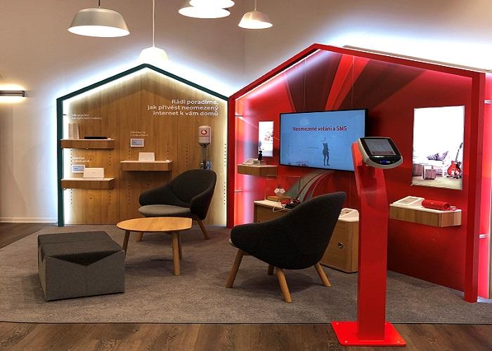 Prodejna má připomínat domov a jednotlivé prodejní zóny pak místnosti v něm, zdroj: Vodafone/Wellen