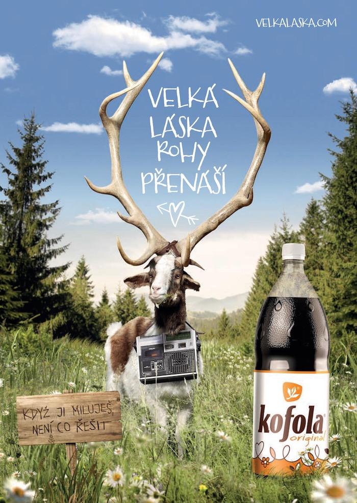 Klíčový vizuál k aktuální kampani značky Kofola, zdroj: Kofola ČS