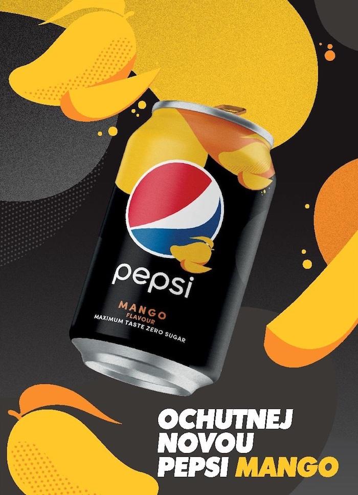 Klíčový vizuál k nové mangové příchuti, zdroj: Pepsi