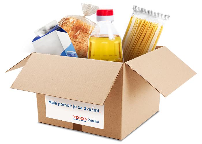 Obsah je možné si měnit, ale lze objednat jen jednu zásilku za den, zdroj: Tesco ČR