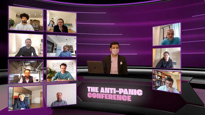 Anti-panic conference. zdroj: JAD Productions