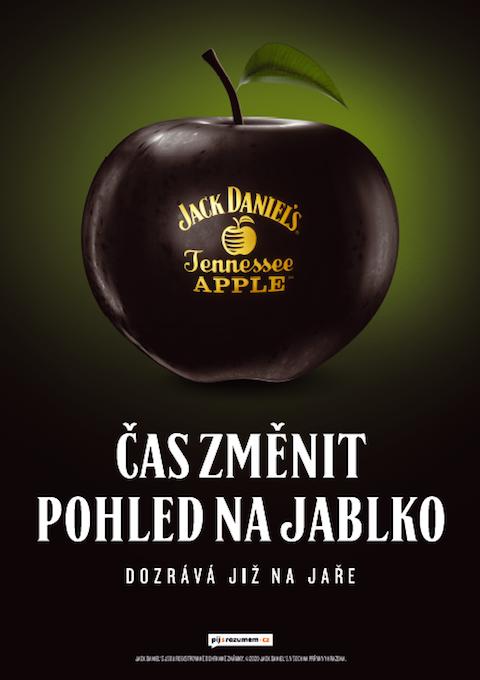 V teaseru využívá Jack Daniel's symbolu černého jablka, zdroj: Brown-Forman.