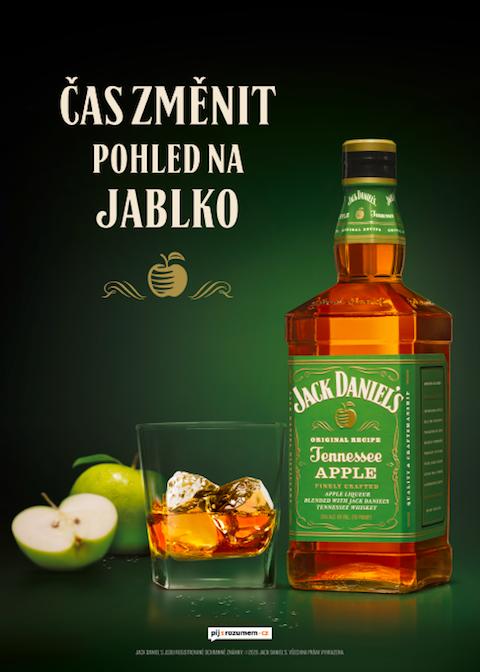 Klíčový vizuál k podpoře Jack Daniel's Tennessee Apple, zdroj: Brown-Forman