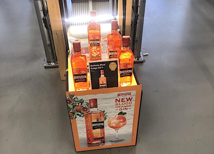 Podpora novinky Beefeater Blood Orange v Marku, foto: MediaGuru.cz